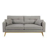 sofa 3 plazas de color gris