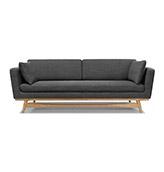 sofa 3 plazas de estilo nórdico de color gris oscuro
