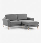 sofa chaise longue de diseño escandinavo