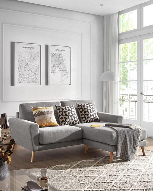 diseño de interiores con muebles de estilo estilo nórdico