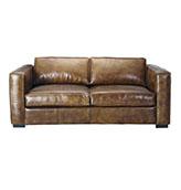 sofá de piel de cuero estilo industrial