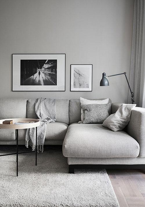 sofás en forma de L para los salones pequeños
