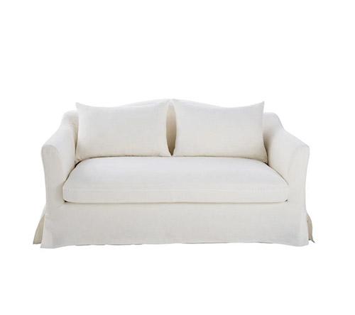 sofa cama lino natural blanco 2 plazas