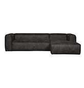 sofá esquinero de piel de color negro
