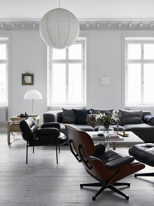 muebles nórdicos en la decoración del salón