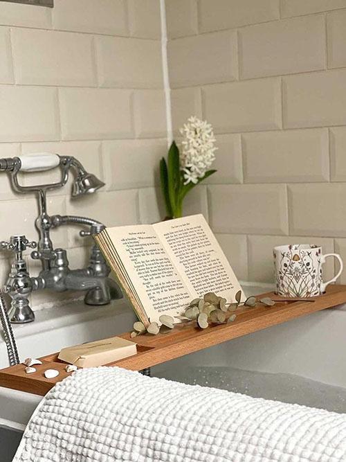 tabla para ducha de madera