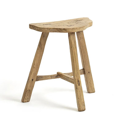 taburete de madera maciza
