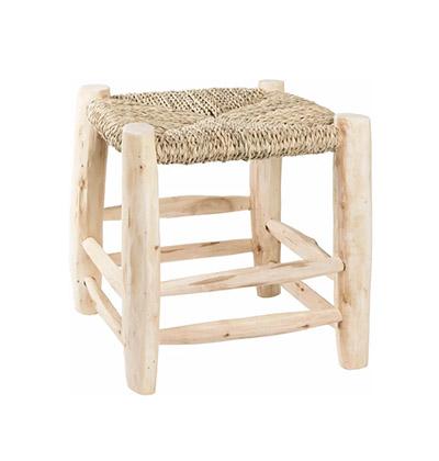 taburete de baño de madera