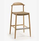 silla de cocina de madera natural