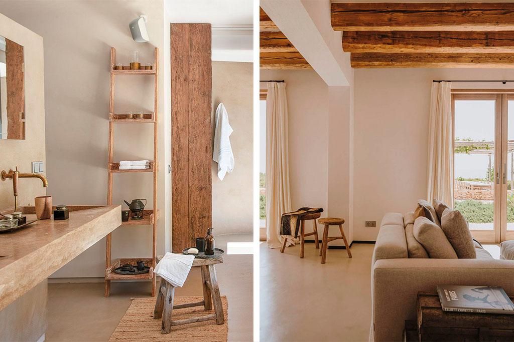taburetes de madera bajos