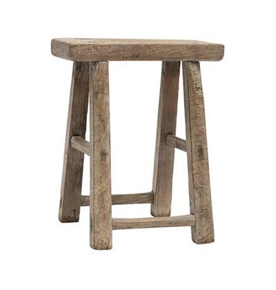 banqueta de madera sin tratar