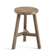 taburete de madera de estilo rústico