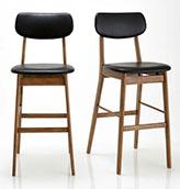 lote de dos sillas de bar