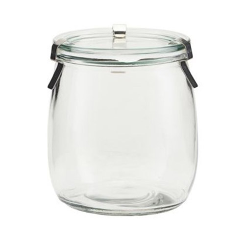 bote de cristal con tapa de cocina