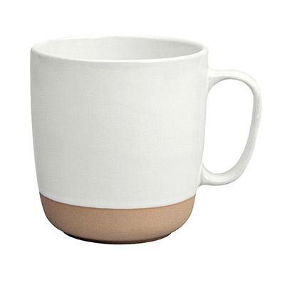 mug de terracota blanca esmaltada