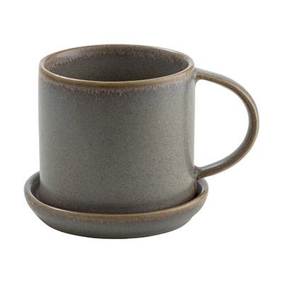 taza y plato de cerámica