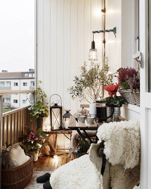 Textiles en la decoración de balcones y pequeñas terrazas