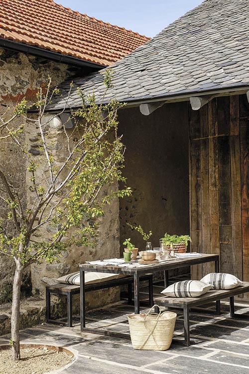 decoración de terrazas de casas de campo