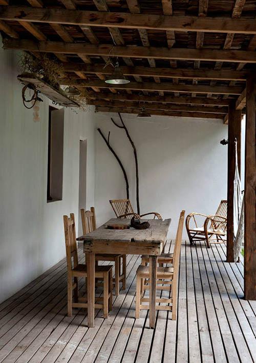 Terraza de una casa de campo