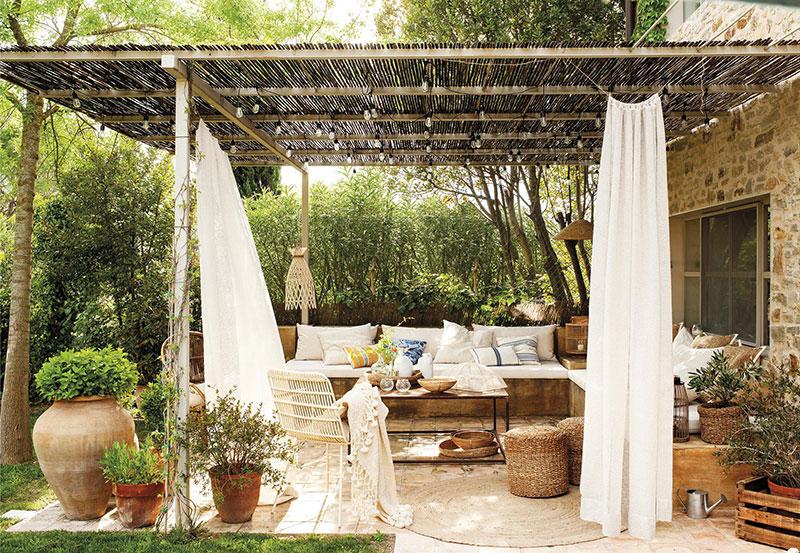 decoración de terrazas y jardines de casas de campo
