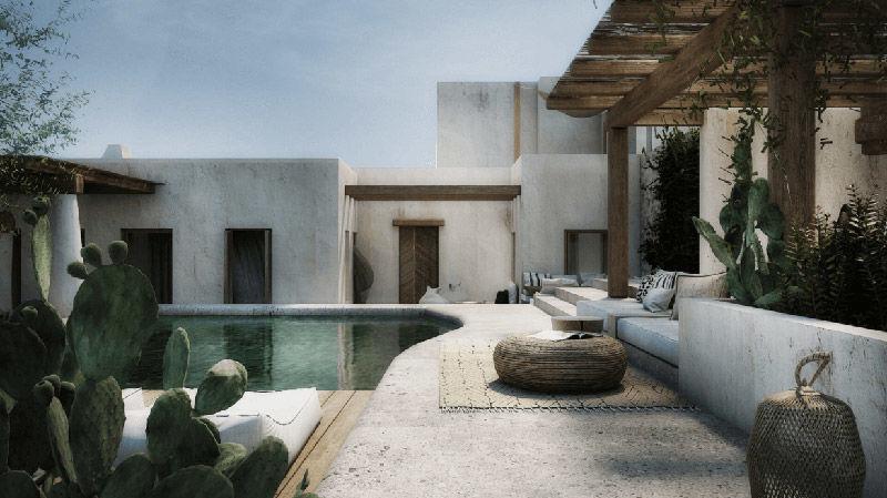 terraza de una casa de veraneo