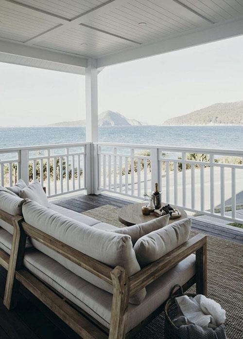 exteriores en una casa de playa
