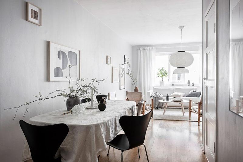 salón comedor de estilo escandinavo