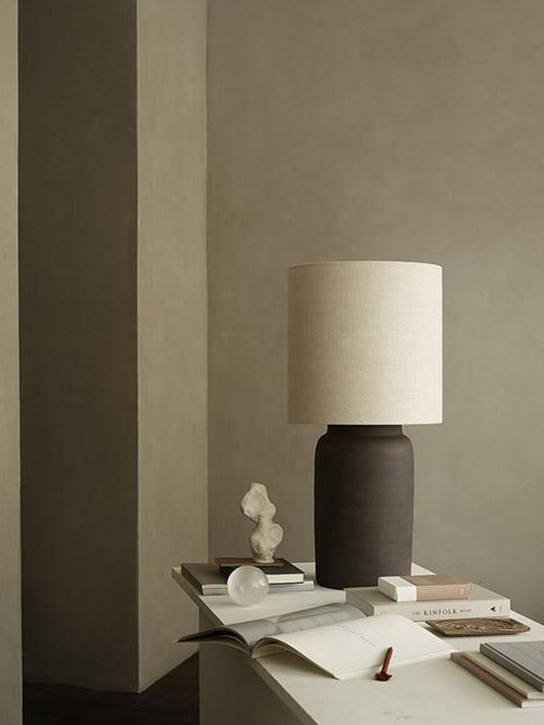 lámpara con base de arcilla