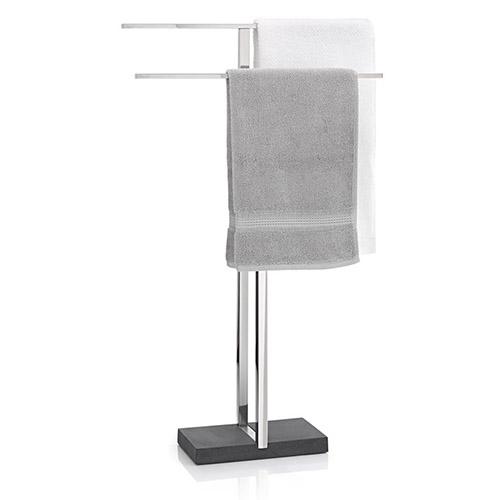 toallero de baño de acero inóxidable con dos brazos