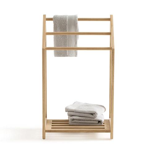 toallero de madera con tres barras