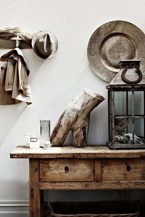 Decoraci n con troncos y ramas secas nomadbubbles - Troncos de madera para decorar ...