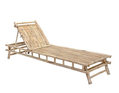 tumbona de bambú de exterior