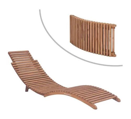 tumbona plegable de madera de teca