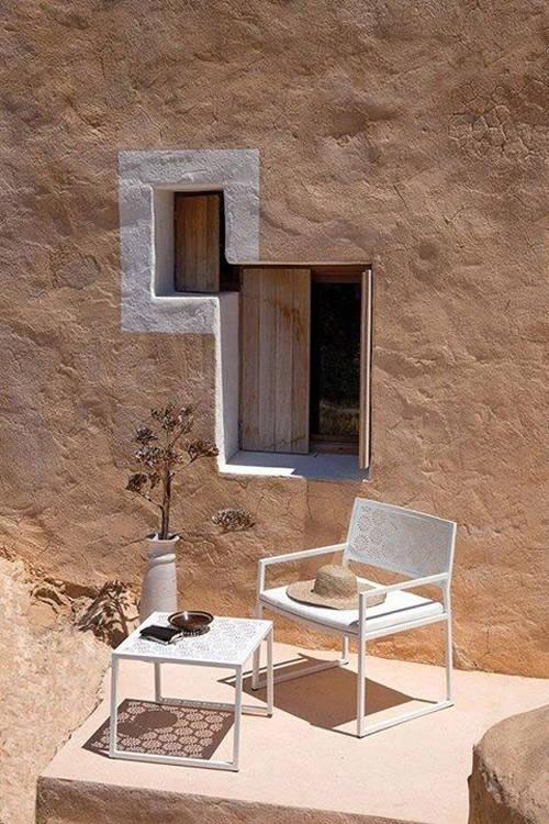 Ventanas pequeñas en la arquitectura mediterranea