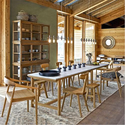 vitrinas de madera para decorar el comedor