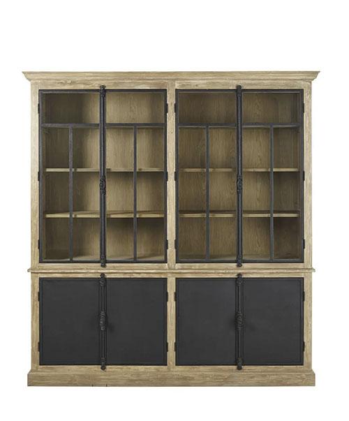 mueble armario vitrina grande de madera