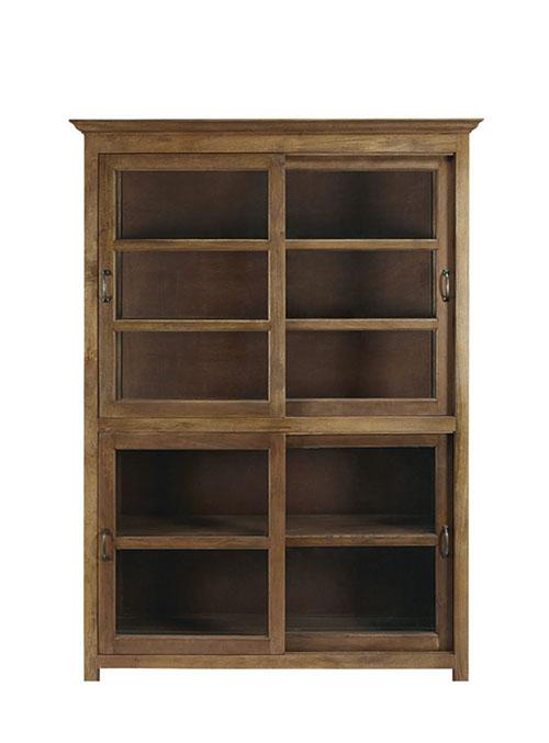 aparador vitrina de madera