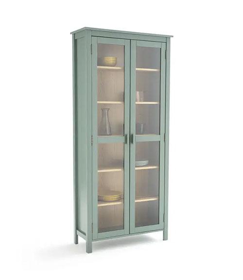 armario vitrina de madera