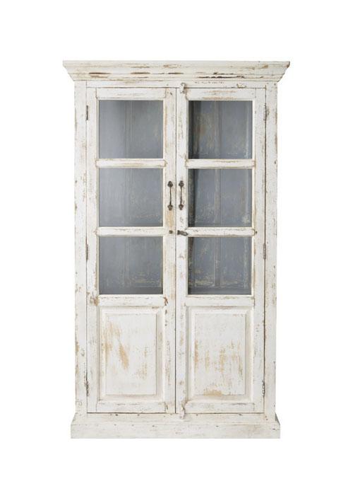 vitrina rústica de madera blanca
