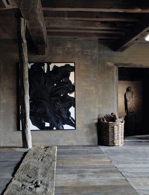 Decoración de interiores de estilo wabi sabi