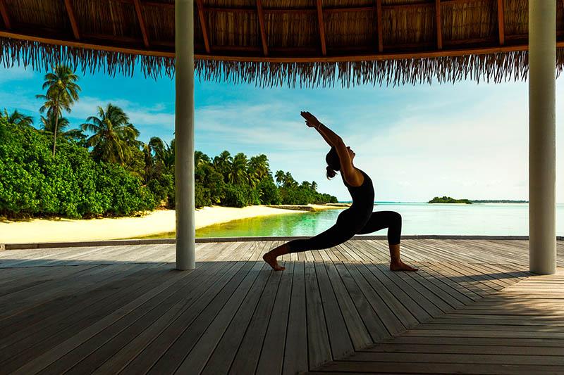 yoga en Las Maldivas