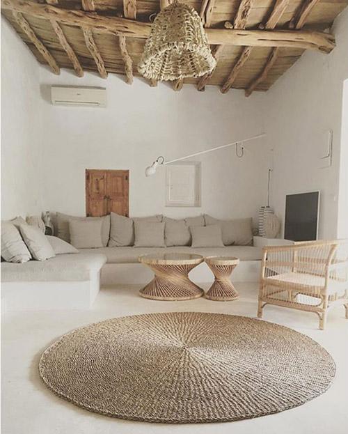 alfombras redondas en la decoración de interiores