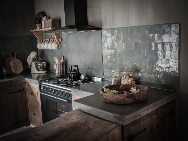baldosas zellige marroquís de color gris