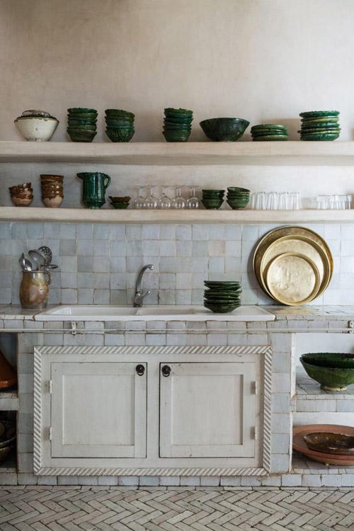 cocinas rústicas con baldosas zelliges de marruecos